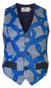 cute guys waist coat with plain pocket design - ohemaohene