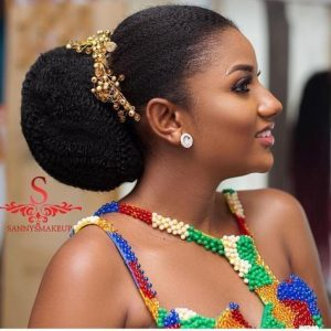 dark skins ladies bridal hairstyle - zambianbrides