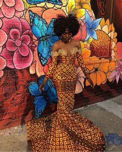 egyptian queens ankara mermaid gown fashion style - instagram