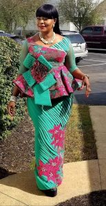 elegant moms ankara skirt and blouse style for wedding and church service - fashionbeau info