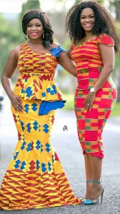 enticing besties kente styles for wedding and party - momoafrica