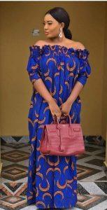 expandable off shoulder ankara maternity maxi - fashionbeau info