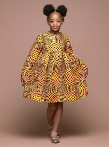 fashionable long sleeve ankara gown for girls - momoafrica