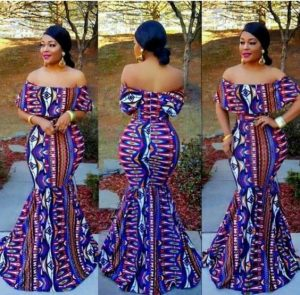 fitted maxi off shoulder gown for curvy ladies - etsy