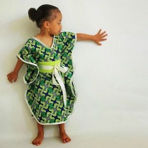 fitting ankara butterfly style for baby girls - thefashionparlour