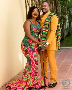 fitting kente combo for couples - mammypi