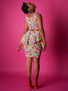 floral ankara pattern for crop top with peplum short skirt - deliciousbrownkisses tumblr