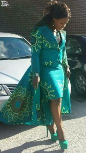 flying angel's ankara suit style with short skirt - sisicouturevogue