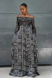 free flowing long sleeve ankara jumpsuit style for african queens - afrikrea