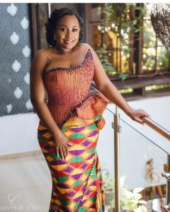 ghana beauty queens sleeveless kente gown - amillionsmiles