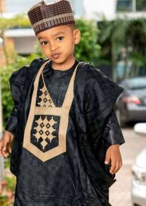 glamorous black plain ankara agbada style for kid boys - vavbureau blogspot