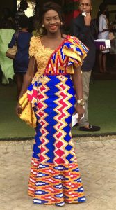 gorgeous kente kaba and slit gown style - africavarsities