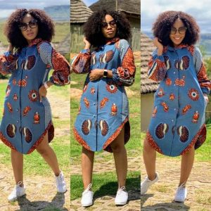 gorgeous teen ladies ankara gown with puffed sleeves - instagram