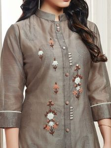 hanging long sleeve ladies senator suit from kurtis collection - g3fashion