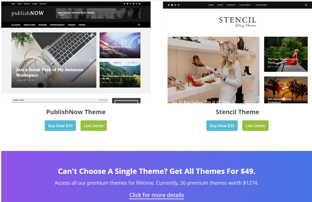 happy themes latest wordpress blog templates