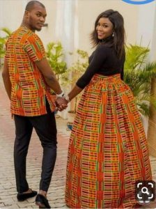 here comes another fitting kente combo for couples - etsy