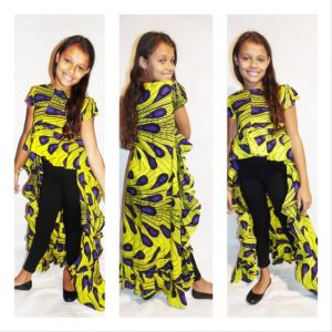 hi low african prints dress for young girls - etsy