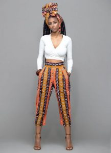 high waist ankara palazzo for teenage queens with crop top - womensfashion trendxhome