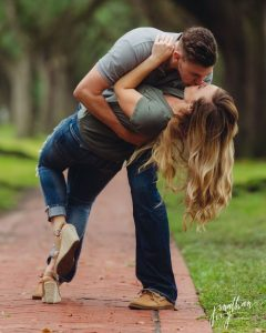 hold her back and then make her fall freely while kissing her then take a super shot - jonathanivyphoto