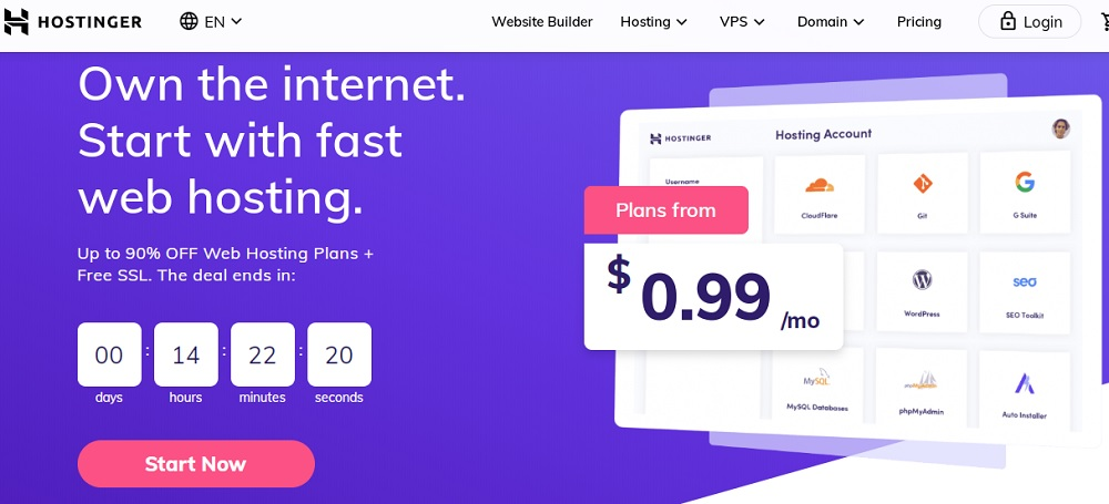 hostinger cheap hosting plans
