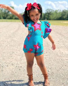 jumpsuit ankara short for kid girls - instagram