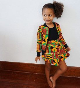 kente jacket and skirt style for kid girls - etsy