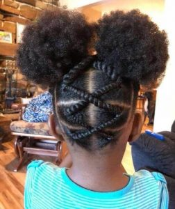 kids virgin hair braids style for school - stylecraze