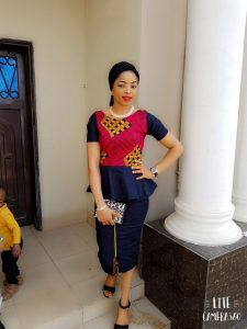 ladies ankara plus jeans skirt and blouse for church - Pinterest