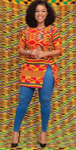 ladies ankara senator top with jean trouser - Pinterest