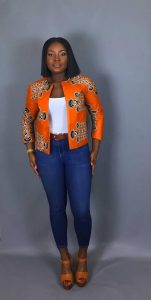 ladies ankara suit with jean trouser - Piinterest