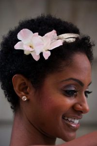 ladies baby girl look hairstyle with flower - blkgirlsrock tumblr