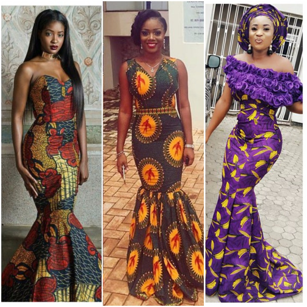 latest ankara long gowns for wedding and party