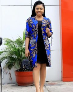 long ankara coat to be worn with short gown - fad neatstuf