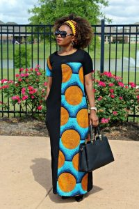 long gown combination of ankara and jean - Pinterest