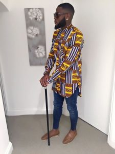 long sleeve ankara senator shirt with jeans trousers for cute guys - couturecrib