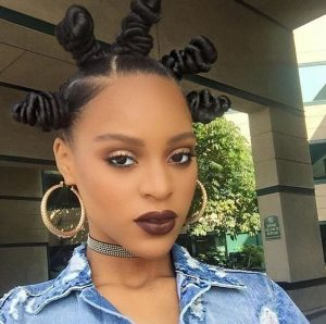 long star shaped bantu knots natural hairstyle for models - boojeeprincess tumblr