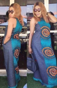 matured ladies equal combination of ankara and jean - Pinterest