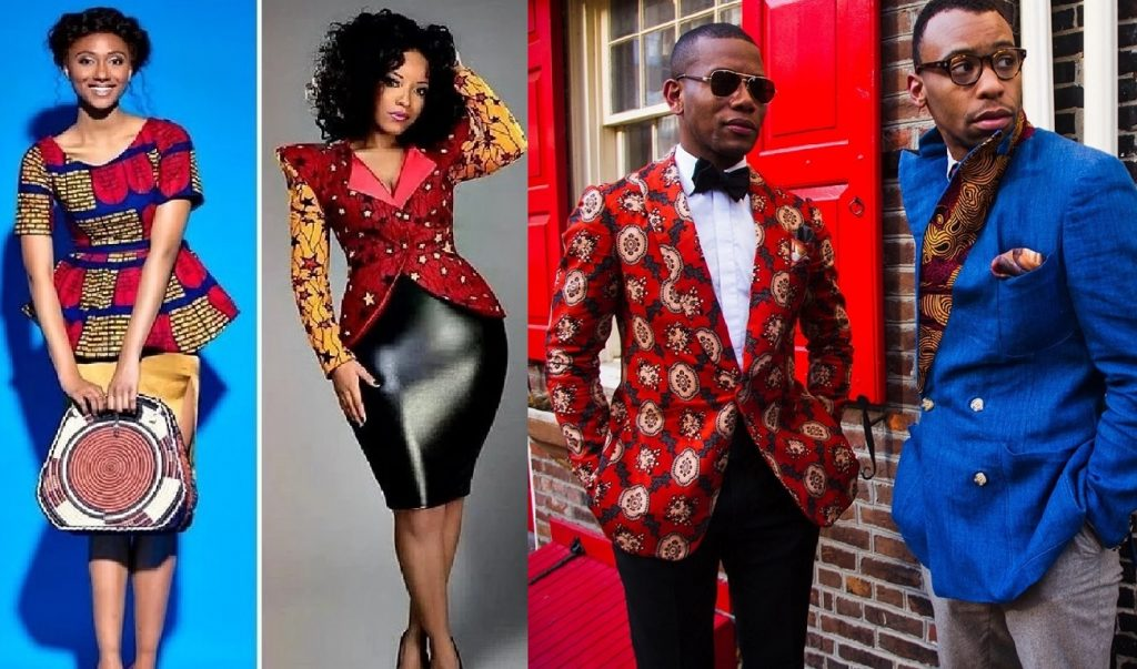 men and ladies ankara jacket styles with trousers short and skirt