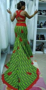 mermaid gown with a crossed strap at the back for wedding and party - weddingdigestnaija