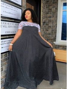 miss aladukes gorgeous ankara gown with laced top for expecting mothers - od9jastyles