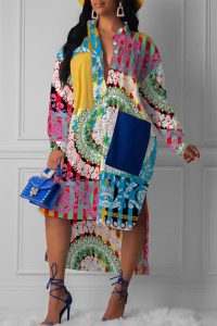 model mothers stylish long sleeve ankara shirt - lovelywholesale