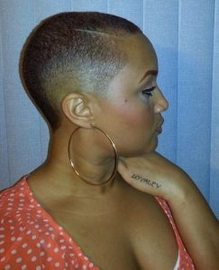 moms skinny afro haircut with low maintenance - pinterest