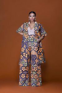 mums ankara palazzo trouser and coat casual wear - grass-fields
