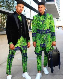 no-tribe multiple layers ankara suit for roughed men - instagram