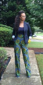 office jean suit with flay ankara trouser for ladies - africanvibes