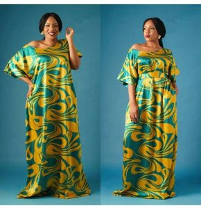 one shoulder ankara maxi with optional loose waist strap - pinterest