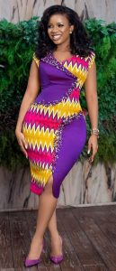 pageantry kente gown for beautiful african ladies - africavarsities