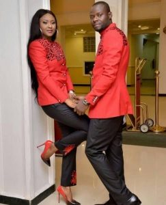 plain and pattern senator suit for beautiful couples - outfittrends