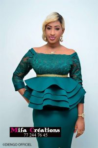 plain plus lace ankara skirt and blouse style for young mums - heykel beautypasee