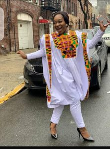 plain white ankara agbada with kente material design for happy ladies - etsy